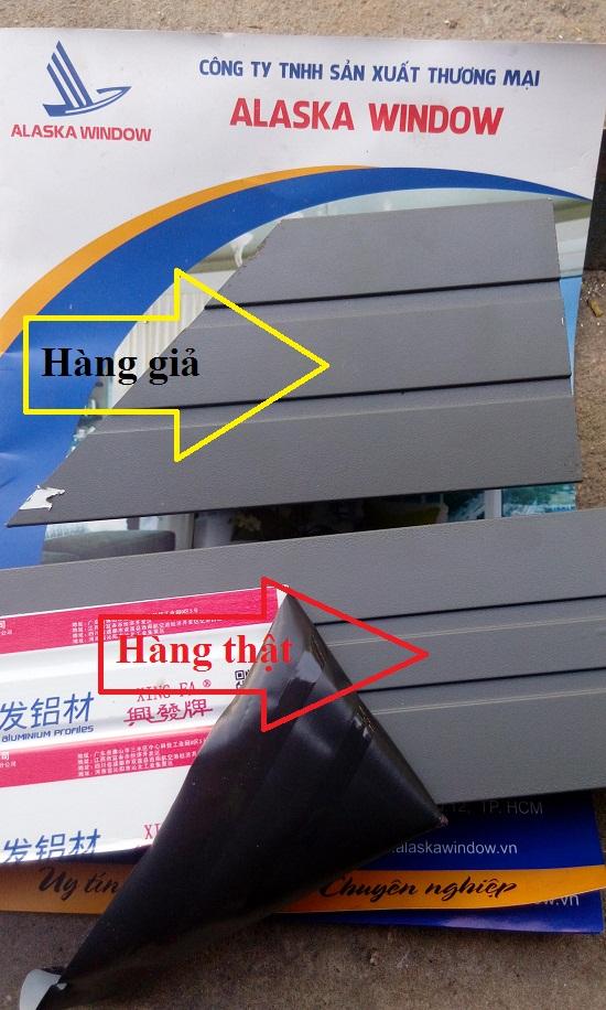 thanh nhôm 2mm khi chưa sơn và 2.02 đến 2.05 mm khi đã sơn